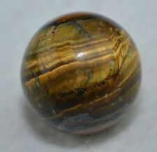 "Vintage Hand Ground Banded Bullseye Tigers eye Agate Marble mint 13/16"" Mar 321"