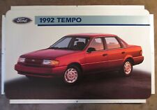 "Ford Tempo 1992 Dealer Showroom Promotional Photo Poster 22 1/2"" x 14"""