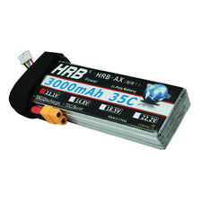 HRB 11.1V 3000mAh 3S 35C Lipo Battery 1/10 Traxxas Car Slash Rusler Savage XT60