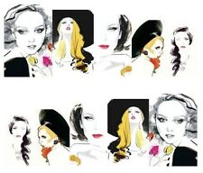 Nail Art Water Decals Transfer Stickers Glamour Vogue (DA188)