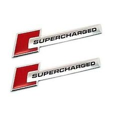 2X NEW AUDI RED SUPERCHARGED SUPERCHARGER EMBLEMS A3 A4 A5 A6 A7 A8 Q5 Q7 RS4