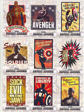 CAPTAIN AMERICA THE FIRST AVENGER 2011 POSTERS INSERT CARD SET P-1 - P-12 MARVEL