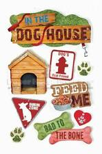 PAPER HOUSE DOGS PETS ANIMALS DIMENSIONAL 3D SCRAPBOOK STICKERS