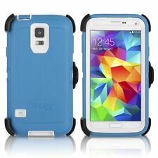 Authentic Samsung Galaxy S5 Otterbox Defender Deep Water Blue / White 77-51980