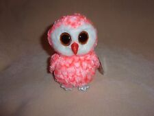 "TY NEW CORA THE OWL BEANIE BOO- 6"" BEANIE BOOS- JUSTICE EXCLUSIVE- PLEASE READ!"