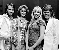 Abba Swedish Pop Group Eurovision Glossy 10x8 Photo Music Print