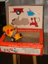 BANDAI B/O 4~WHEEL DRIVE GEAR SHIFT JEEP W/ATTACHMENTS! NO. 4263 W/BOX! WORKS