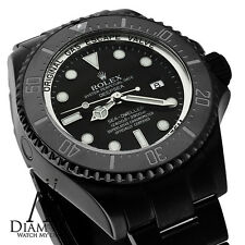 """ALL BLACK ROLEX - 44mm Deepsea Sea-Dweller Ceramic Black Dial - 116660"