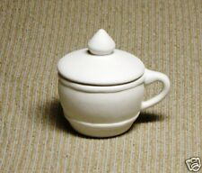 Ceramic Bisque Sugar Bowl with Lid Cole Mold 982A U-Paint Ready To Paint