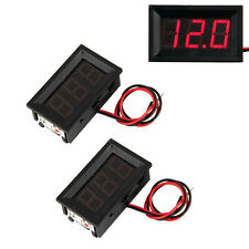 2 Mini Rote LEDs Digitales Voltmeter Panel 4.5-30V ET