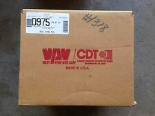 1000' West Penn D975 2 COND 18 SOLID BARE  SHIELDED FPL Wire Cable