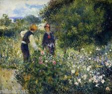 Picking Flowers by Pierre-Auguste Renoir Giclee Fine Art Canvas Print
