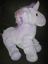 Toys R Us Unicorn Purple Plush Stuffed Animal Ribbon Mane Large 21 inch