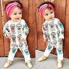Newborn Kids Baby Boy Girl Infant Romper Jumpsuit Bodysuit Clothes Outfit Set
