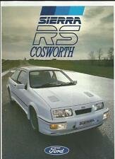 FORD SIERRA RS COSWORTH SALES BROCHURE JANUARY 1986