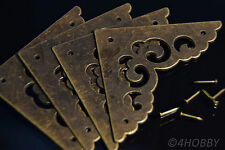4 Antik Schutzecken Winkel Schatzkiste Schatztruhe Ecken Alt Schatulle Verzieren