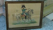 ANTIQUE ETCHING DEPICTS THE ALEXANDER I ON HORSEBACK, IMPEROR OF ALL  THE RUSSIA