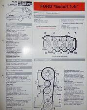 Fiche technique automobile RTA FORD ESCORT 1.4 i     1993