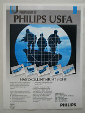 8/1989 PUB PHILIPS USFA EINDHOVEN NIGHT VISION NIGHT SIGHT ORIGINAL AD