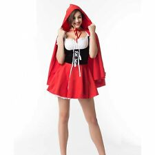 Women Derss Costumes Little Red Riding Hood Cosplay Unifrom Halloween Christmas