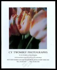 2003 Cy Twombly tulip flower photo NYC gallery vintage print ad