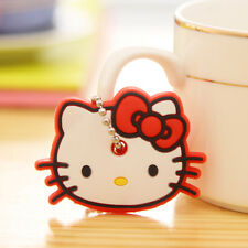 Hello kitty Trendy Cute Soft Key Top Head Cover Chain Cap Keyring Phone Strap
