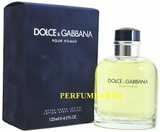 DOLCE & GABBANA POUR HOMME BY D&G 4.2oz. AFTERSHAVE LOTION FOR MEN NEW IN BOX