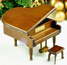 """It is a Small World"" Melody Wooden Piano Music Box With Sankyo Musical Movement"