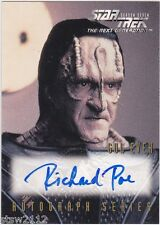 STAR TREK THE NEXT GENERATION SEASON 7 A15 RICHARD POE GUL EVEK AUTOGRAPH