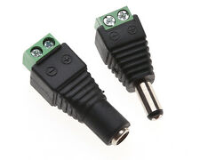 1pair Male+Female Plug 12V DC Power Jack Connector Cable Adapter CCTV Camera TB