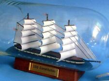 "11"" Wooden U.S.S. Constitution Model Ship In A Glass Bottle Assembled"