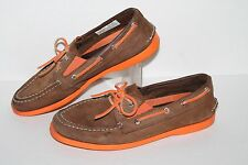 Sperry Topsider Intrepid Boat Shoe, #YB47681A, Brown/Orange,Youth US Size 4 Y