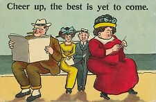POSTCARD  COMIC  Cheer up, the best is yet to come