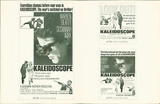 Kaleidoscope (1966) press sheet  Warren Beatty, Susannah York, Clive Revill