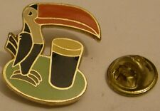 GUINNESS TOUCAN BEER advertising Guinness is good for you vintage rare pin badge