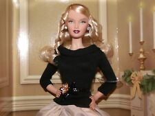 2007 EXQUISITE FESTIVE & FABULOUS GOLD LABEL SPECTACULAR BARBIE IN SHIPPER MINT