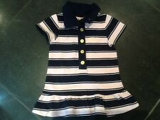 Juicy Couture New & Genuine Baby Girls Striped Dress With Logo Age 6/12 MTHS