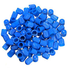 100 Pcs Blue Car Auto Motorcycle Bike Plastic Tire Air Wheel Air Valve Stem Caps