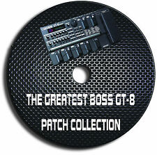BOSS GT-8 - BIGGEST & EXCLUSIVE PATCH LIBRARY GUITAR EFFECTS PEDALS CD