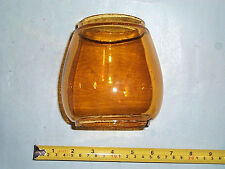 5 inch Tall Yellow Amber Antique Lantern Globe Barn Railroad nice COLORED Glass