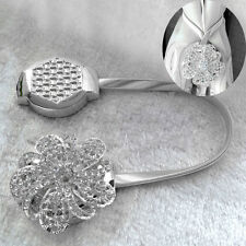 Magnetic Crystal Flower Curtain Tiebacks Tie Backs Buckle Clips Holdbacks Home
