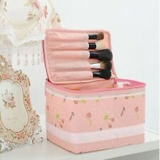 Pink Large Handbag Cosmetic Makeup Jewelry Bag Container Travel Toiletry Case