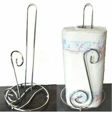 Stainless steel kitchen roll holder paper towel pole stand -bnib-Chrome polished