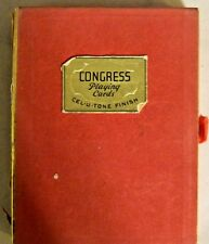 Vintage Congress Double Deck Royal Crown & Coat of Arms Images Playing Cards