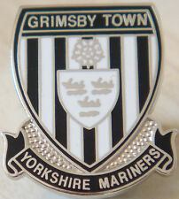 Grimsby town fc yorkshire supporters club badge broche épingle en chrome 21mm x 25mm