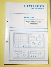 Bedienungsanleitung Service Manual Hameg Digital Multimeter HM8011-3