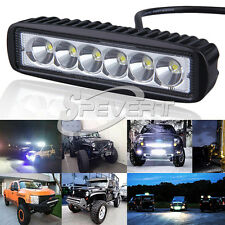 "6"" Car Truck 18W LED Work Light Bar Reversing Flood Lamp Jeep Boat 4WD 12V 24V"