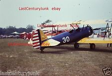 35mm Slide Of A Stearman #30 At Unknown Airshow