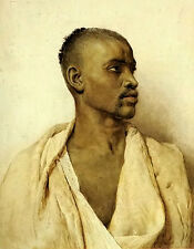 Oil painting frederico bartolini - Young figure portrait of an arab man canvas