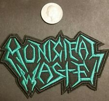 municipal waste patch *** green and black logo **** battle vest *battle jacket